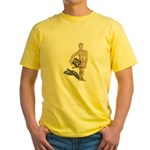 Holding Diving Helm Yellow T-Shirt