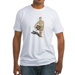 Holding Diving Helm Fitted T-Shirt