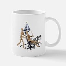 Racing Office Chair Checkered Flag Mug