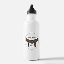 Custom Martial Arts Brown Belt Water Bottle