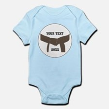 Custom Martial Arts Brown Belt Infant Bodysuit