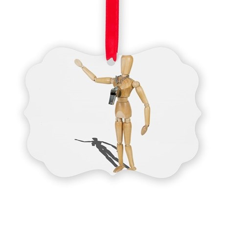 Wearing Coach Whistle Picture Ornament