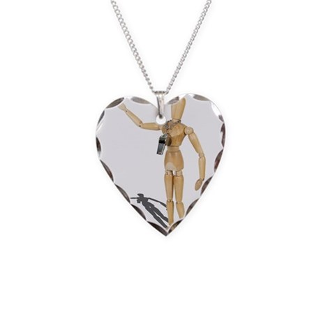 Wearing Coach Whistle Necklace Heart Charm
