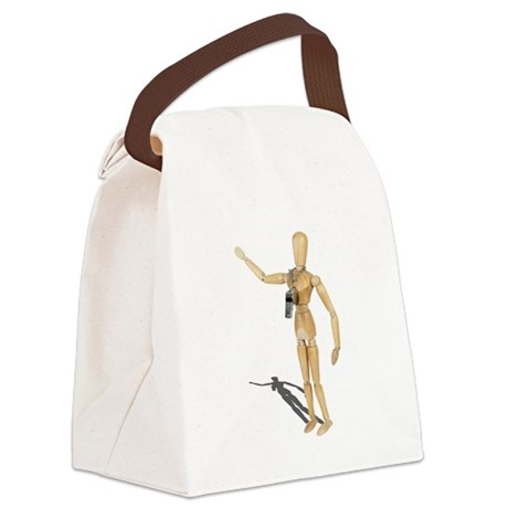 Wearing Coach Whistle Canvas Lunch Bag
