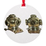Diving Helm Round Ornament