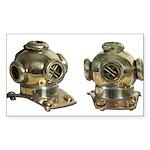 Diving Helm Sticker (Rectangle 50 pk)