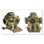 Diving Helm Sticker (Rectangle 10 pk)