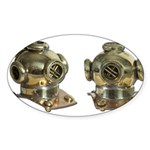 Diving Helm Sticker (Oval 50 pk)