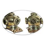 Diving Helm Sticker (Oval 10 pk)
