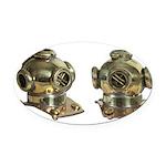 Diving Helm Oval Car Magnet
