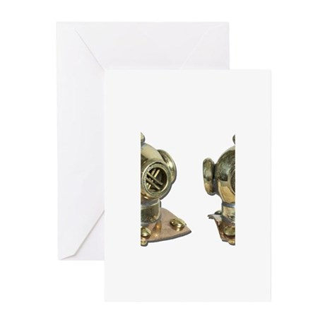 Diving Helm Greeting Cards (Pk of 10)
