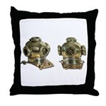 Diving Helm Throw Pillow