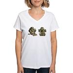 Diving Helm Women's V-Neck T-Shirt