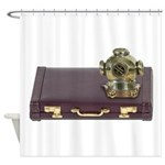 Diving Helm Briefcase Shower Curtain