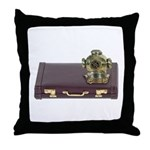 Diving Helm Briefcase Throw Pillow