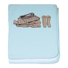 Folded Military Clothes baby blanket