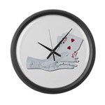 Palm Reading Cards Large Wall Clock