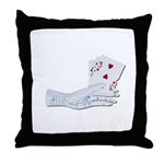 Palm Reading Cards Throw Pillow