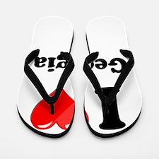 I Heart Love Geogia.png Flip Flops
