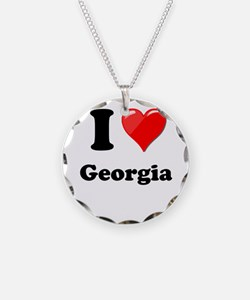 I Heart Love Geogia.png Necklace