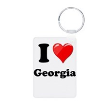 I Heart Love Geogia.png Keychains