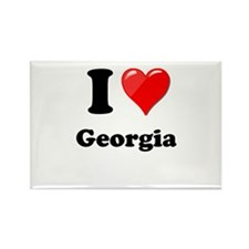 I Heart Love Geogia.png Rectangle Magnet