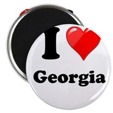 """I Heart Love Geogia.png 2.25"""" Magnet (100 pack)"""
