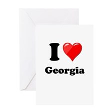 I Heart Love Geogia.png Greeting Card