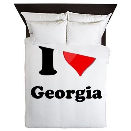 I Heart Love Geogia.png Queen Duvet