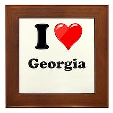 I Heart Love Geogia.png Framed Tile