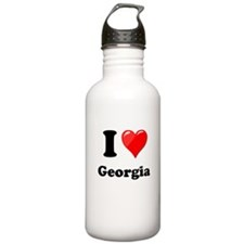 I Heart Love Geogia.png Water Bottle
