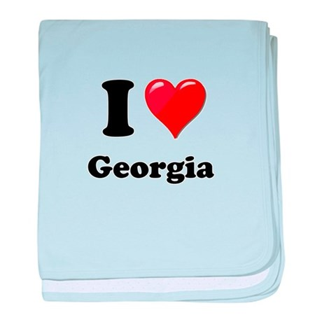 I Heart Love Geogia.png baby blanket