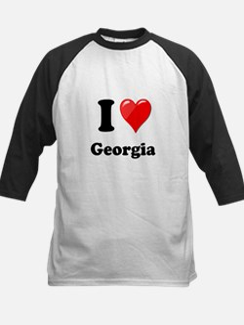 I Heart Love Geogia.png Kids Baseball Jersey