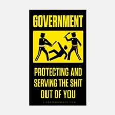 Government Satire Sticker (Rectangle)