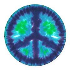 Tie Dye Peace Sign Car Magnet