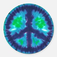 Tie Dye Peace Sign Car Magnet