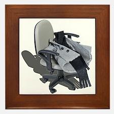 Houndstooth Jacket Office Chair Framed Tile