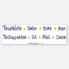 Triathlete vs. TriSupporter Bumper Bumper Bumper Sticker
