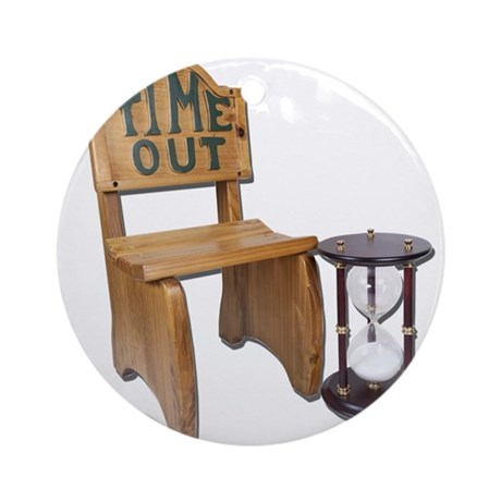 Timeout Chair Hourglass Ornament (Round)