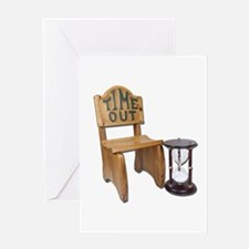 Timeout Chair Hourglass Greeting Card