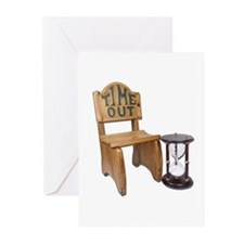 Timeout Chair Hourglass Greeting Cards (Pk of 10)