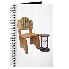 Timeout Chair Hourglass Journal