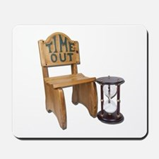 Timeout Chair Hourglass Mousepad