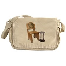 Timeout Chair Hourglass Messenger Bag