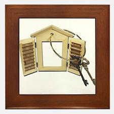 Shuttered Window Keys Framed Tile