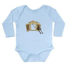 Shuttered Window Keys Long Sleeve Infant Bodysuit
