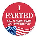 I Voted Parody Round Car Magnet