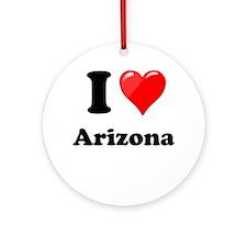 I Heart Love Arizona.png Ornament (Round)