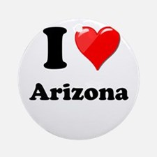 I Heart Love Arizona.png Ornament (Round)