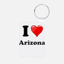 I Heart Love Arizona.png Keychains